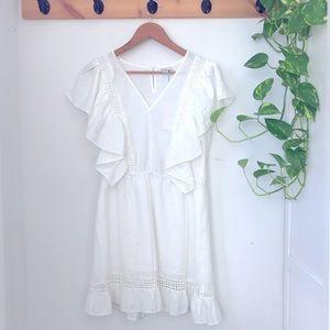 White boho spring dress NWT
